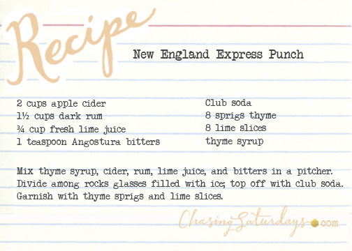 new england express punch - chasing saturdays