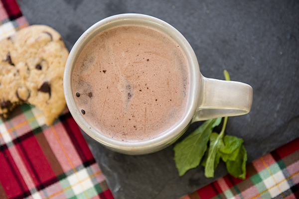 spiked mint hot chocolate - chasing saturdays
