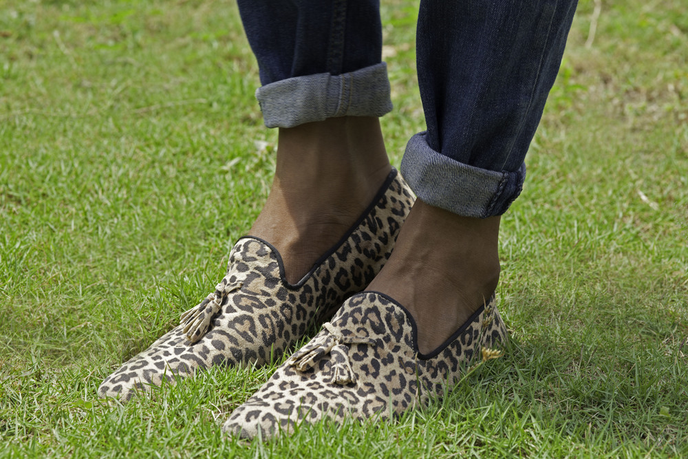 Leopard print tassel loafers from Topman