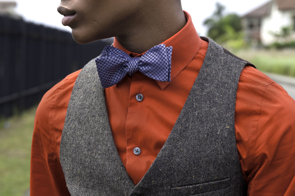 Burnt Orange Shirt : Express // Bow Tie- Barney's New York