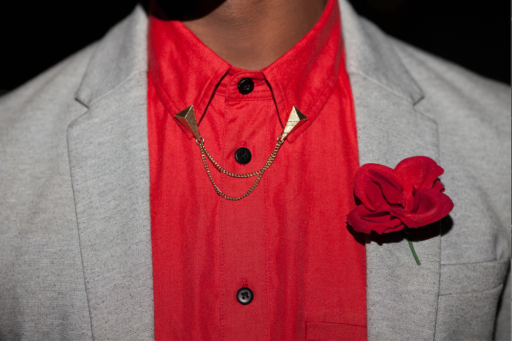Collar Tip: River Island// Flower Pin: Picked from an artifical flower arrangment