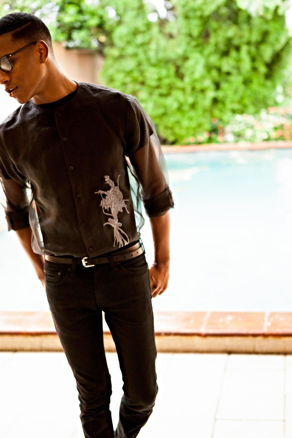 Shirt: Orange Culture // Black tee: H&M