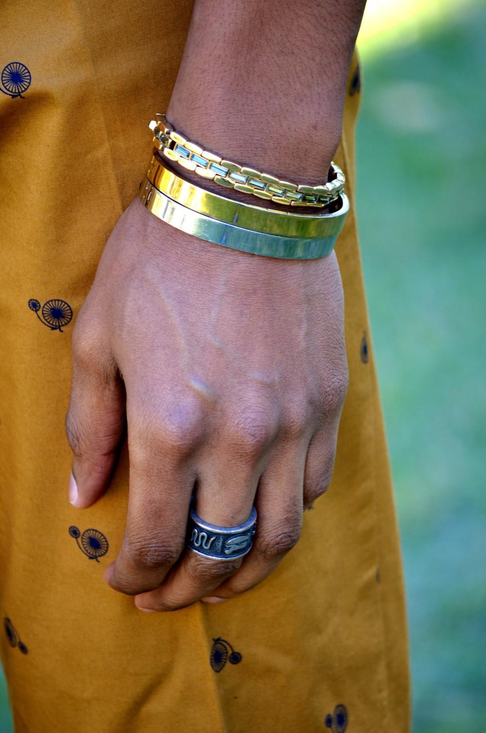 Bracelets: Topman/ Fossil