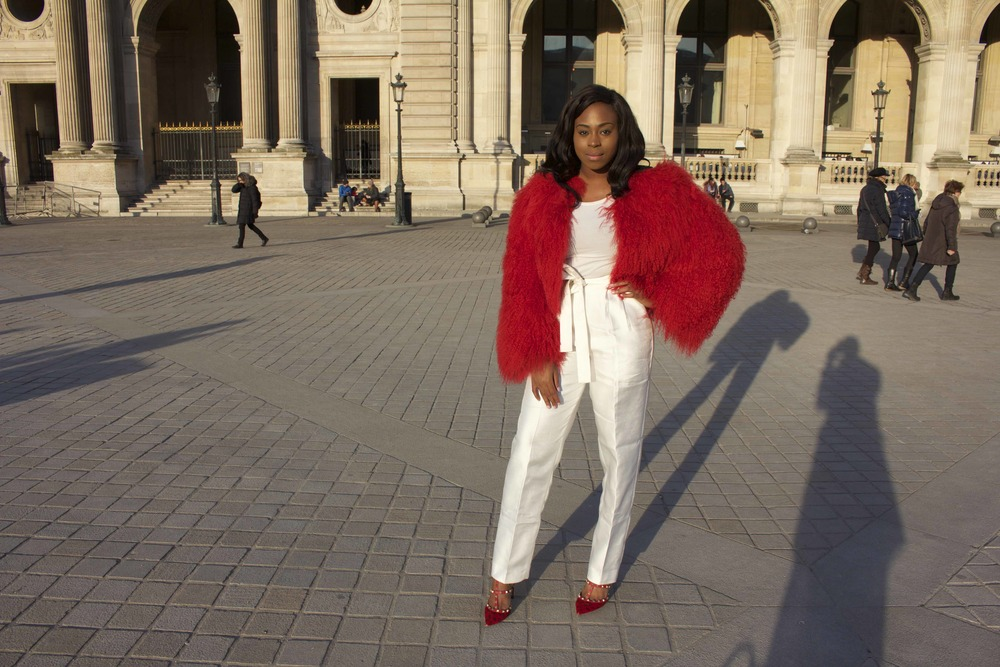 ZINA in VALENTINO FUR AND SHOES