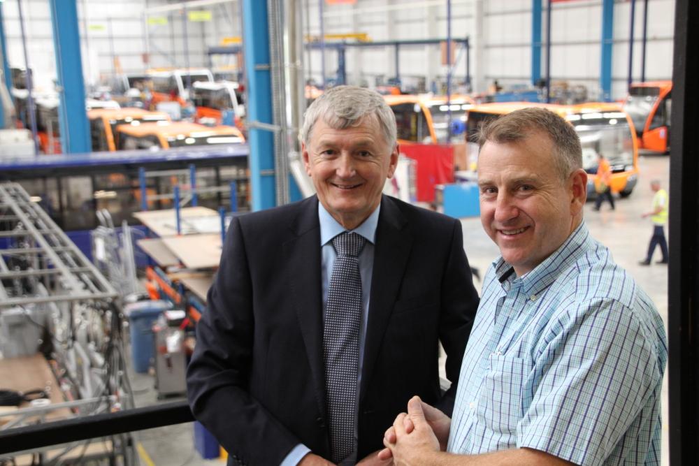Peter McKenzie, Donric Group, Austrailia visits Optare.JPG