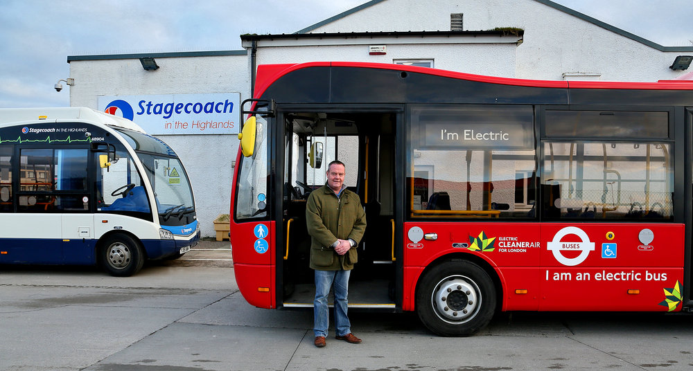 Metrocity EV Trial - with Russell Henderson, ED and existing Solo EV at Inverness Depot.JPG