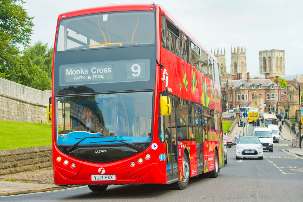 The Metrodecker EV in-service trials in York last year.
