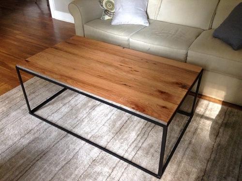 coffee table box. custom made match box coffee table. low profile