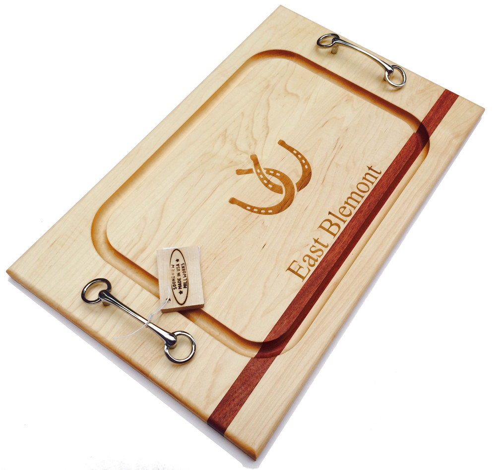 Steak Board with Equestrian Bits and Personalized Engravings