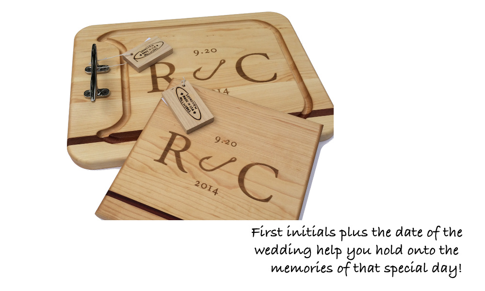 wedding_gift_appetizer_cutting_board_with nautical_cleats_engraved