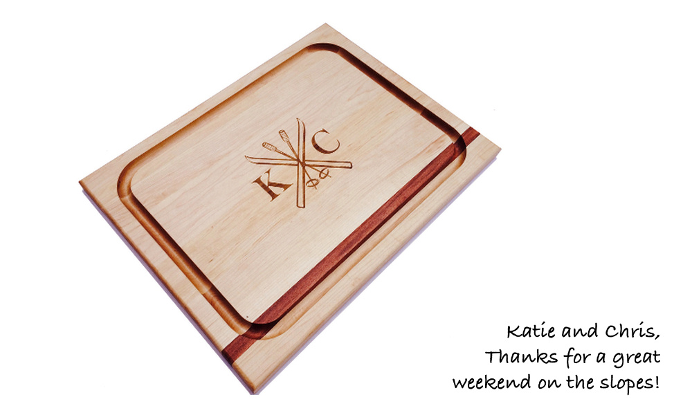 skiing_theme_cutting_board