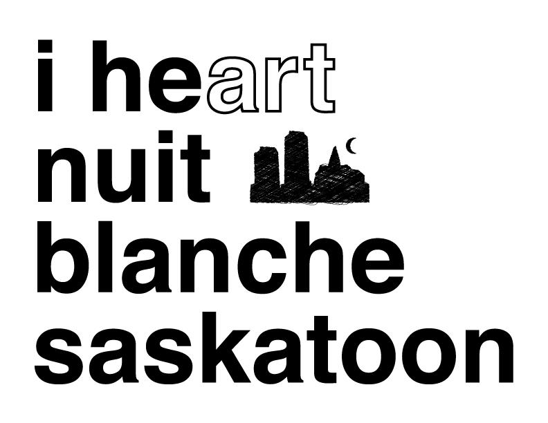 nuit blanche saskatoon tshirt