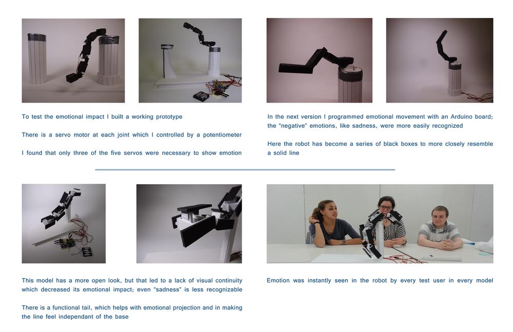 Emotive Robotics prototype testing Brian Lieb