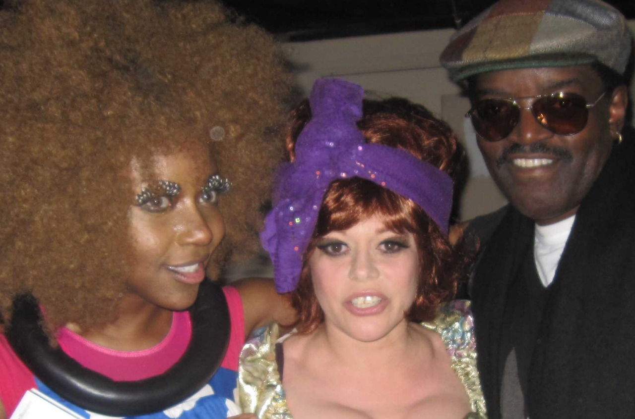 Ebony Bones AND Fab Five Freddy = stunned look  on my face photo by: DWAYNE COOPER