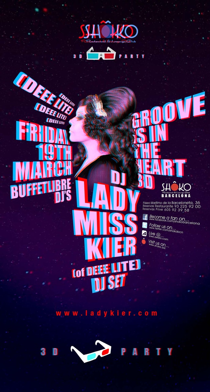 "Miss Lady Kier  in BARCELONA for a   DEEE-JAY SET   March 19th   I am looking forward to playing the ""Josephine"" track by Cubic Zirconia !"