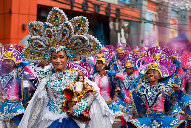 asiasociety :      Photo of the Day: A Dazzling Celebration in Philippines     Decked out in glittering costumes for the Feast of the Santo Niño in Cebu, Philippines