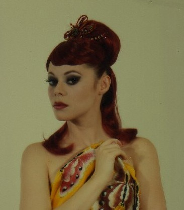 i wore a red bejewelled dragonfly in my hair and wrapped a silk mariposa fabric around me as josh quickly snapped this shot-thanks josh. billy beyond on makeup and orlando pita on hair. 1992- lady miss kier …..www.ladykier.com cyanimator: idol. http://www.mixcloud.com/ladykier/  https://www.facebook.com/pages/miss-Lady-Kier/296808489716?fref=ts