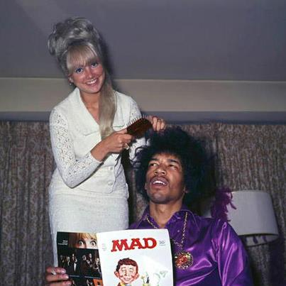 Mad magazine….best endorsement ever! most white girls don't know how to do black peoples hair but judging from her own hair do …she might be qualified. he looks unsure abt it though.Don't miss the hendrix tribute this sunday in nyc at bbkings.-lady miss kier …www.ladykier.com     p.s. if you  the mad magazine  poster child  had a baby with  the flying monkeys from oz -it would look like W Bush. anyone else see the resemblance.