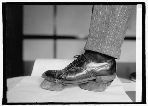 Look at these Cow shoes used by Moonshiners in the Prohibition days 2 disguise their footprints, 1922. from   collective-history   I bet they got drunk and tap danced like billy goats - lady miss kier      http://www.mixcloud.com/ladykier/       https://www.facebook.com/pages/miss-Lady-Kier/296808489716?fref=ts