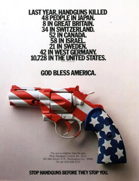 these gun murder statistics country by country spell it out…guns are illegal in london and the cops use rubber bullets in theirs. i suspect it's the same for these other countries. Guns are a disease in the U.S. We send comfort to the families of the victims-lady miss Kier…www.ladykier.com     photo from: Kenny Holcomb