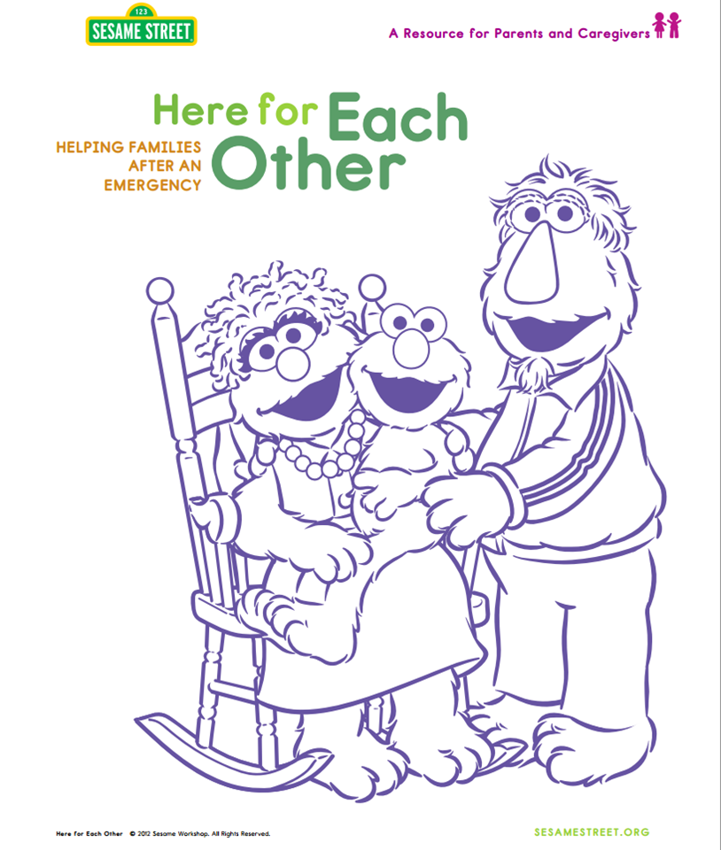 Here are some resources to help parents and caregivers speak with children about today's events. (PDF): http://www.sesameworkshop.org/assets/1192/src/HereForEachOther_vEng2012Modified.pdf sesamestreet: