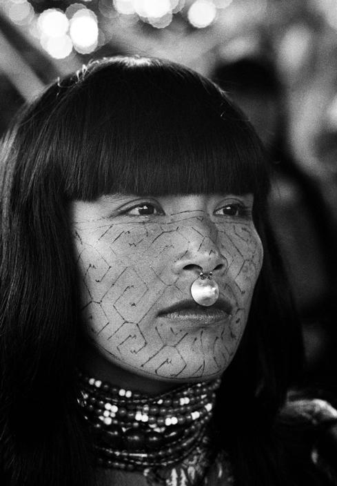 possibly the palenque tribe from the yucatan Mayans ? anyone know for sure ? -lady miss kier..www.ladykier.com     answer:  PERU. Shipibo Indian woman with face paintings in a village on…Ucayali river. 1962.