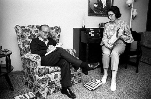 Truman Capote and Harper Lee post by  planetpaul .