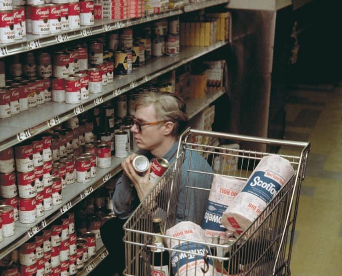 hey! no wig!- lady miss kier…www.ladykier.com  Andy Warhol at Gristede's supermarket, New York (1962)-mommatried