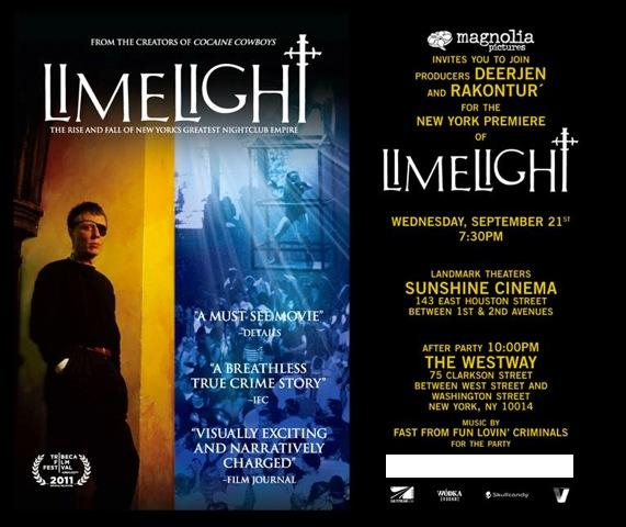 "I do not endorse this movie ""LIMELIGHT"" . I don't understand how they can justifiably use my name or footage of me dancing at a rave in Baltimore  in their film, produced by the club owners daughter. Anyone who knew me in the early 90's knows I was loudly vocal about boycotting the Limelight since day one because at the debut of   ""disco 2000"" , I was in the dj booth ,when the owner's wife stormed in and told Supa DJ Dmitry to stop playing ""black music"" adding "" what do you think this is, Harlem? ""  . Me and the dj walked out immediatly  after those  frogs and creepy crawlers slithered out of her lipglossed mouth like a grim fairytale ugly princess character. For years , I had heard from so many black and latino youth that they were turned away at the door. Of course there were a few people of color let in but most were turned away because "" they weren't dressed right"" only to return in  their most put-together looks to be turned away once again.  I would taunt my friends who worked there asking them why they would participate in such a bad environment that was  pushing special k to underage suburban white kids -  but the answer was always ""they paid well"" .   I also resent the Limelight  because they secretly owned  ""Project x""  magazine which seemed to dictate what was happening in NYC clubs and always  put ""disco 2000"" on top.   Thank god THAT ugly part of NYC mid 90's club culture came to a screaching  halt after it was discovered michael alig was found guilty of a  hammer bashing murder which including pouring drano down the mouth and hacking his victim into pieces before throwing his body in the hudson river. I was surprised ""party monster' never used the obvious metaphor in their film of  an Angel being sacrificed in  the church of pranks and debauchery.  Along with their rotten door policy , themes such as ""bloodbath""  had a huge impact in ruining  NYC club culture and was part of the reason i moved to London in 1995 and stayed nearly a decade.   SO……to find out  that the movie has bought  and edited  footage of me dancing at a rave in baltimore to use in the film  is shamefull as well as dropping my name in the interviews . I never saw the movie  but if you see my cheerful face  throwing down  to the early 90's sounds remember""""I was not a regular at  LIMELIGHT and only remember going to disco 2000 three times. I wanted to set the record straight….I hated that club and most everything it stood for except for the innocent kids who went out to have fun and my many  friends who worked there.  p.s. thanks Mike Mills for selling me out. I'll be contacting you to send me a copy of the release form you   must have made me sign. If you don't have it- youll be hearing from my lawyer."