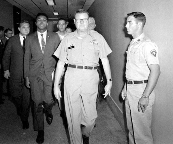 "When his name was called, he refused to step forward. His name was called two more times, again he refused to step forward. Finally, an officer warned him he was committing a felony punishable by five years in prison and a fine of $10,000. Again, Muhammad Ali refused to budge when his name was called. He was the Greatest Fighter who ever lived yet he refused to fight in a war he did not believe in, saying he was not going 10,000 miles to ""drop bombs and bullets on brown people in Vietnam while so-called Negro people in Louisville are treated like dogs and denied simple human rights."" He added ""this is the day and age when such evil injustice must come to an end."" As a result, he was arrested and on the same day the New York State Athletic Commission suspended his boxing license and stripped him of his title. Other boxing commissions followed suit. Ali would not be able to obtain a license to box in any state for over three years. Years later he explained, ""Some people thought I was a hero. Some people said that what I did was wrong. But everything I did was according to my conscience. I wasn't trying to be a leader. I just wanted to be free. And I made a stand all people, not just black people, should have thought about making. He added ""I wanted America to be America…Freedom means …carrying the responsibility to choose between right and wrong…and, I did what I thought was right."" Muhammad Ali, born this week, January 17, 1942.-  Jon S.Randal ! thanks Jon S.Randal !  great post . you can follow fim on Facebook- lady miss kier Jon S. RandalPissed Off Liberal Momma Follow"
