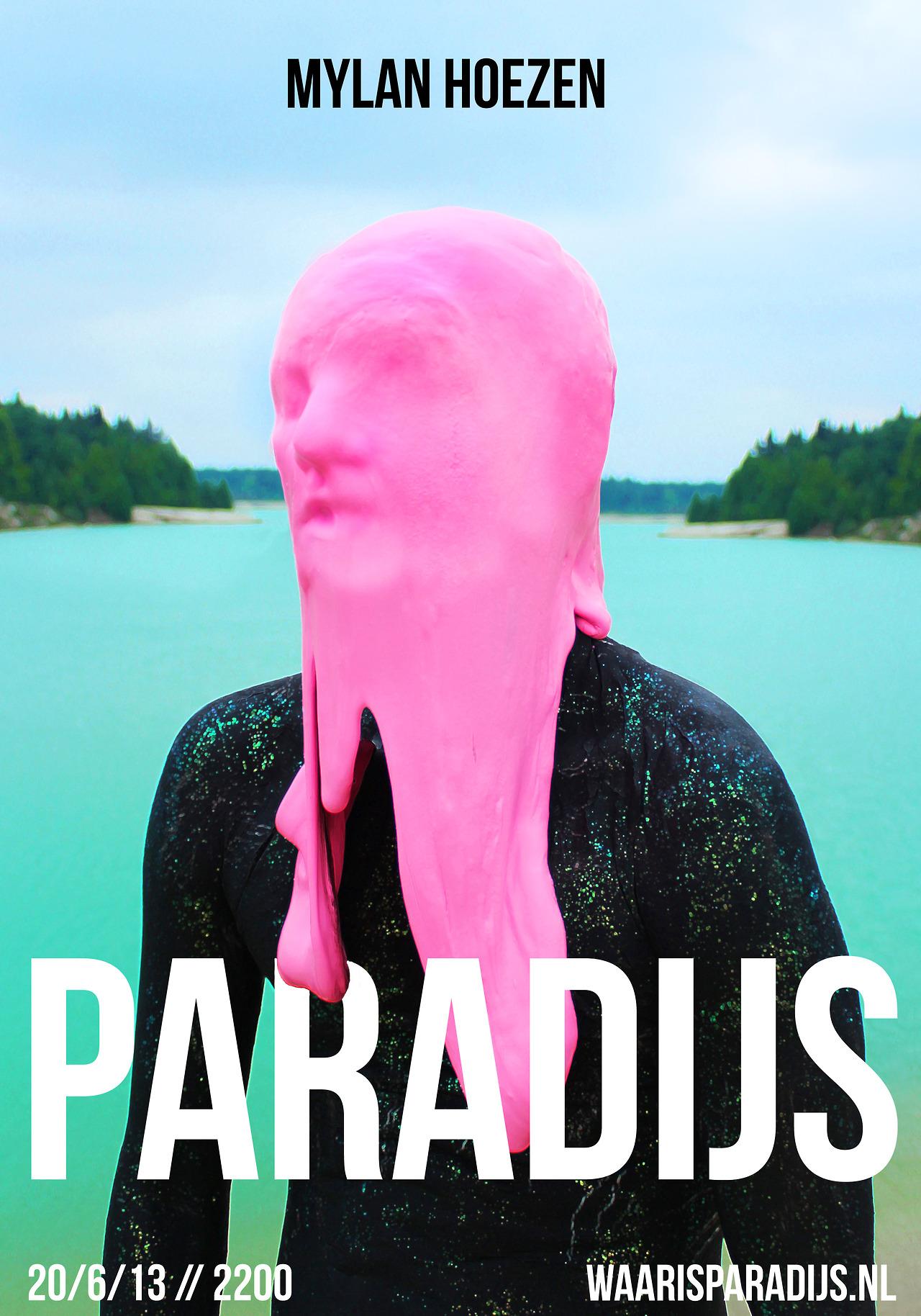 iammylan: Poster for mylan's show 'Paradise' / www.waarisparadijs.nl waarisparadijs: Reserveer kaarten via paradijs2013@gmail.com