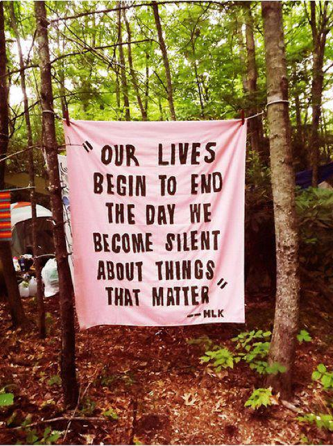 """our lives begin to end the day we become silent about things that matter"" -Martin Luther King via hip beatnik and thentherewas0ne"