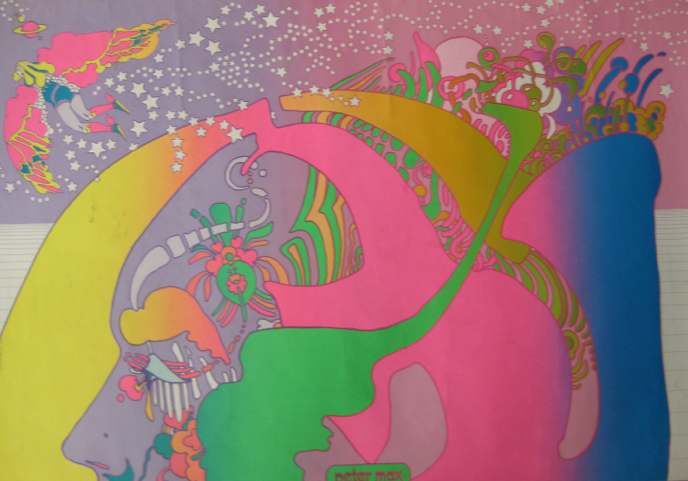 flying in lavender twilit peter max star shine