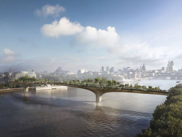 "Joanna Lumley's dream of a ""floating paradise garden"" suspended above the river Thames is set to become a reality …      http://www.independent.co.uk/news/uk/home-news/joanna-lumleys-garden-bridge-over-the-thames-gets-30m-seal-of-approval-from-government-8983330.html"