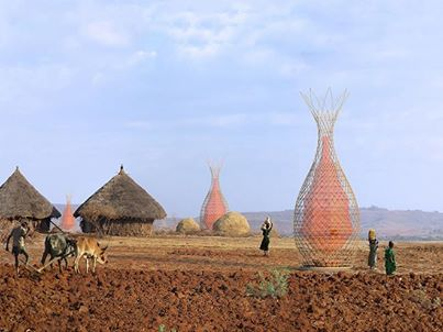 where function meets beauty. In Ethiopia this is how rainwater is being collected .
