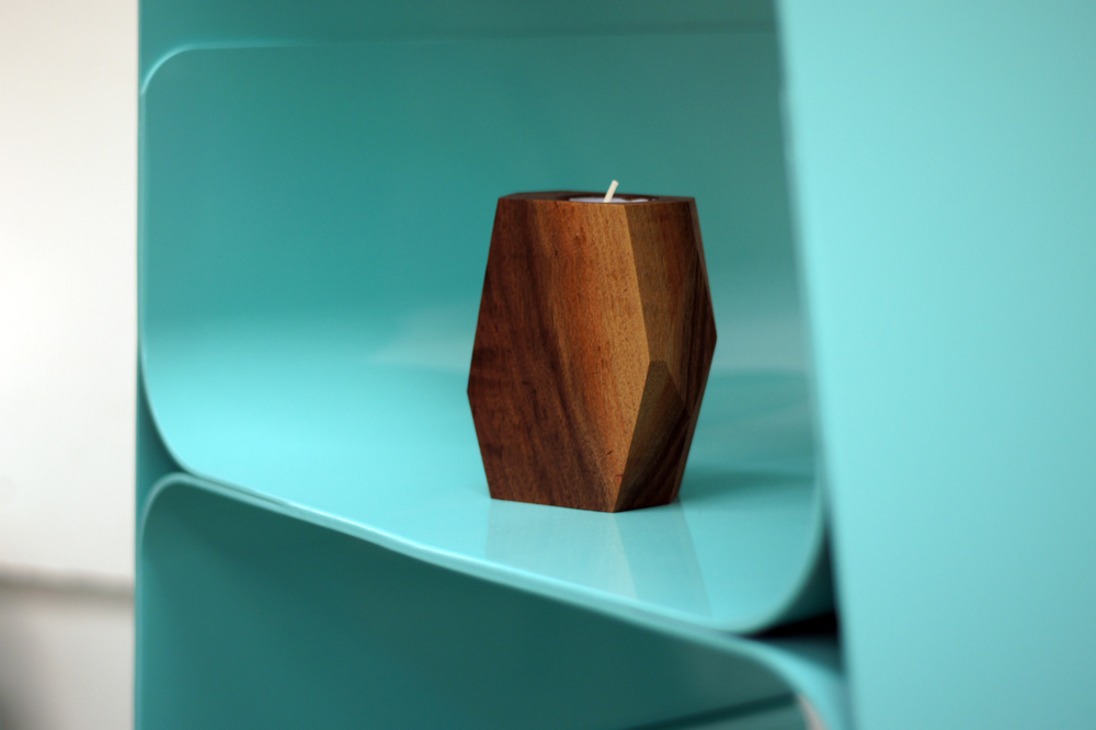 Walnut Candle Holder  |  Spring 2015