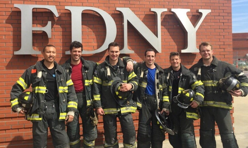 MIBA members participate in a workshop at the FDNY Academy.
