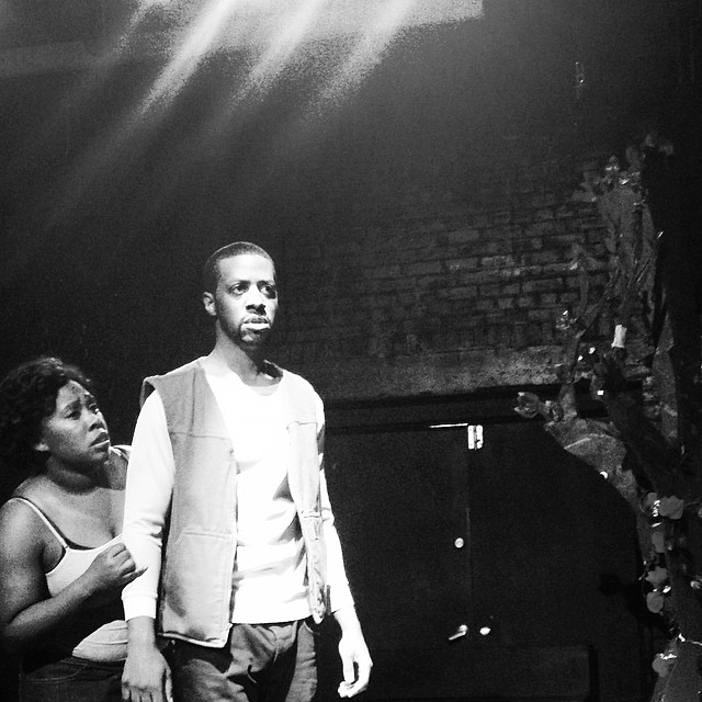 Naza Usher and Durell Arrington in The Three Joys of Mary by Meyer Biderman. Urban Waves @ Open Hydrant Theater Company Summer Shorts Play Festival. June, 2014. Bronx, NY