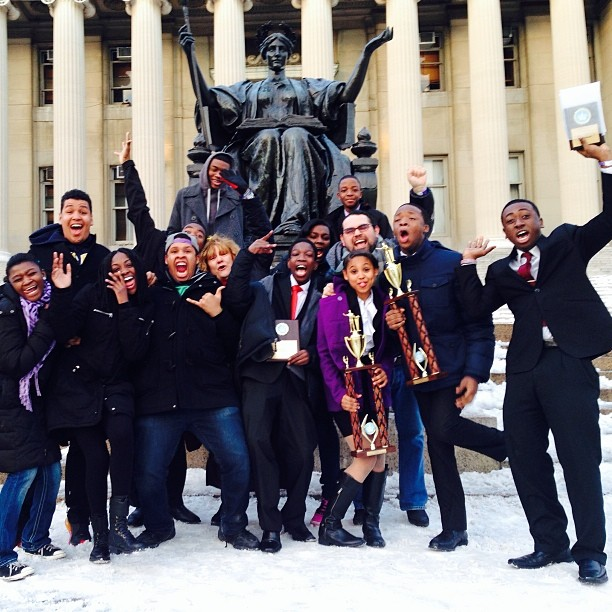 Open Hydrant Youth win FIRST PLACE at Columbia University Speech and Debate Tournament. February, 2014.