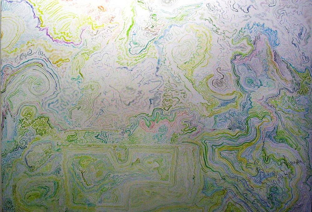 Linija pereina į diagramą - iš viršaus matomas miško planas ir ąžuoliukai pradeda spinduliuoti energetinius laukus, net judančius per spalvų spektrą.