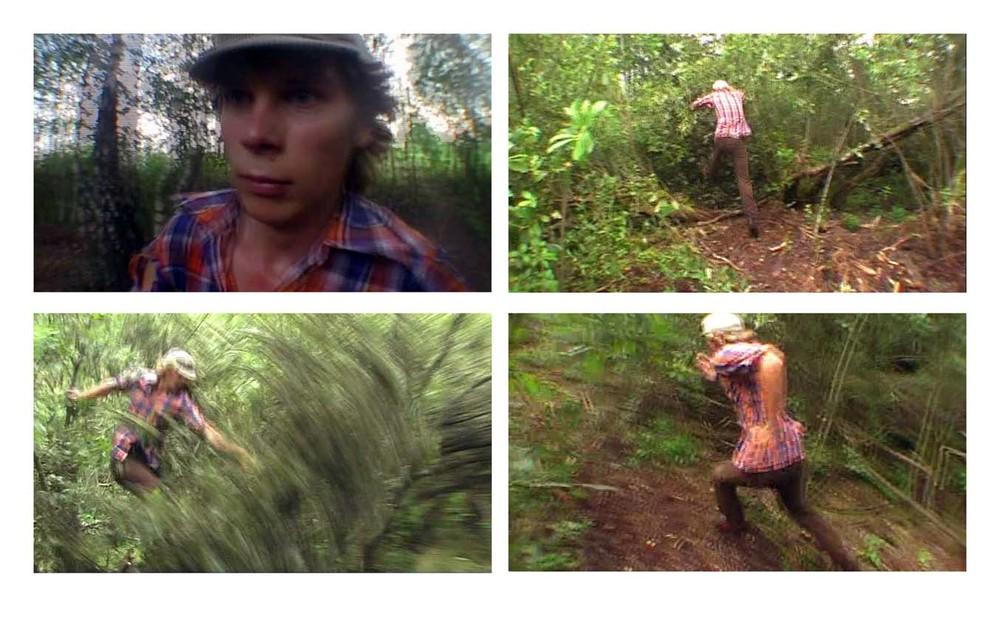 Savo kaime, buvusioj tundroj, išsikirtau kilpą kaip liniją    Jos kelyje radau vienuoliką mažų ąžuoliukų - tai buvo mano kontaktas su mišku