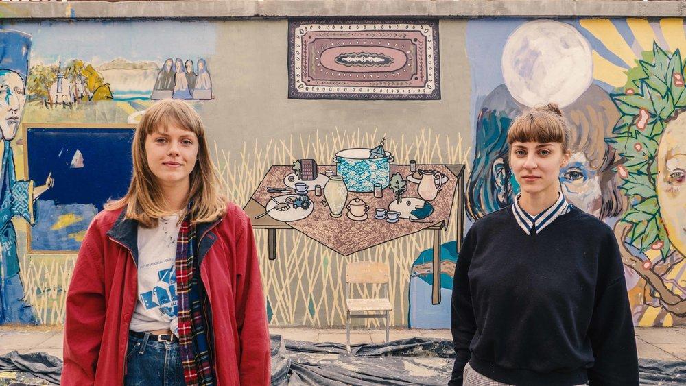 V Sienų tapyba ant Visagino kultūros centro. Meninikės Indrė Lubytė ir Diana Remeikytė. Foto Žilvinas Danys_1.jpg