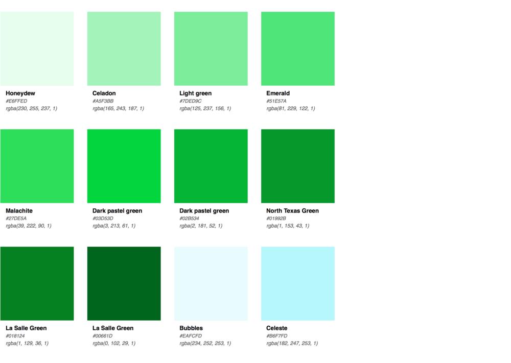 hex color palette pdf