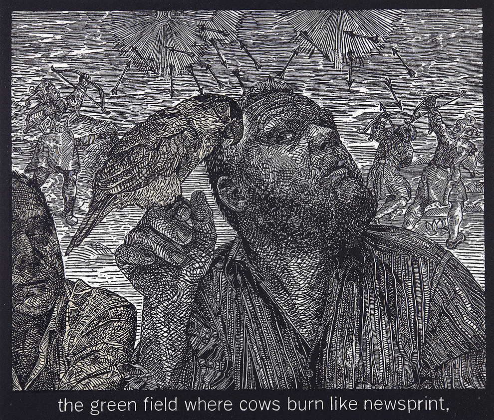09_Alice Leora Briggs_the green field where cows burn like newsprint, woodcut with chine colle.jpg