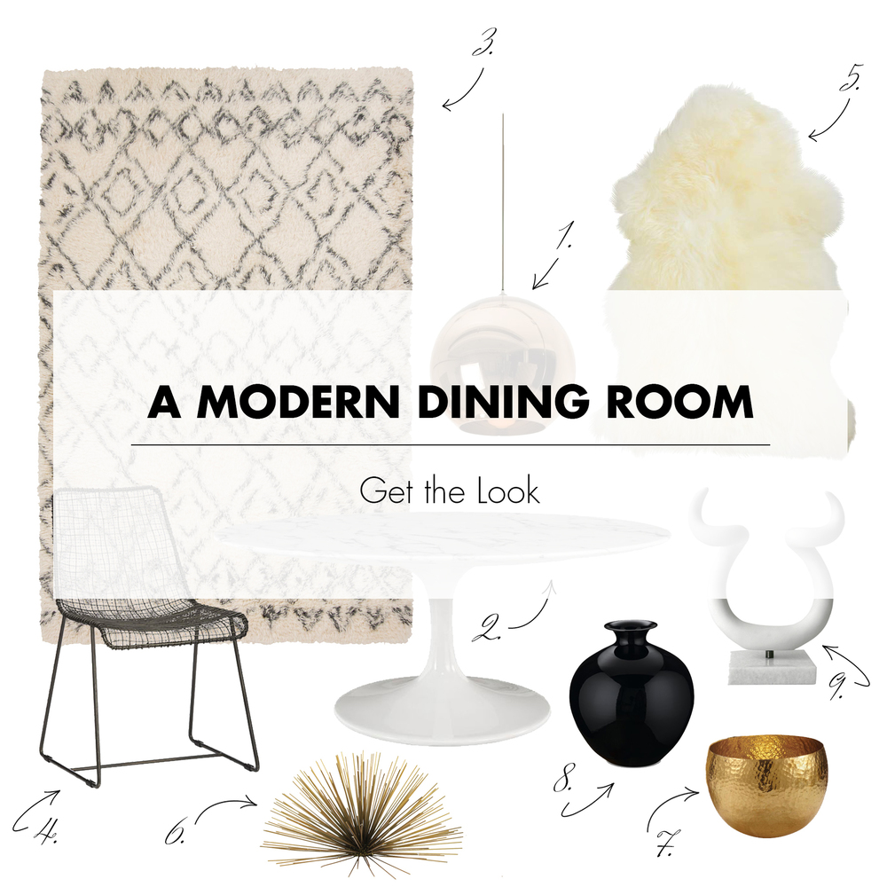 Get the Look | A Modern Dining Room