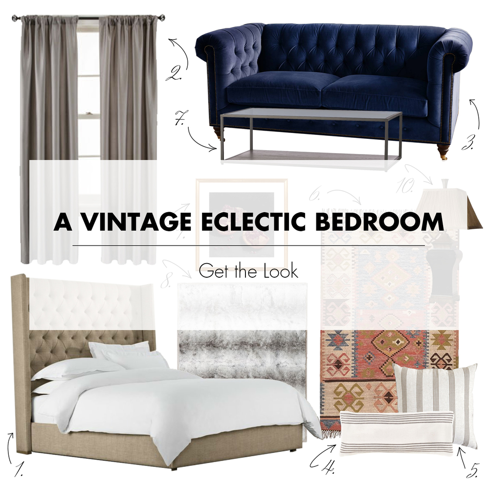Get the Look | A Vintage Eclectic Bedroom