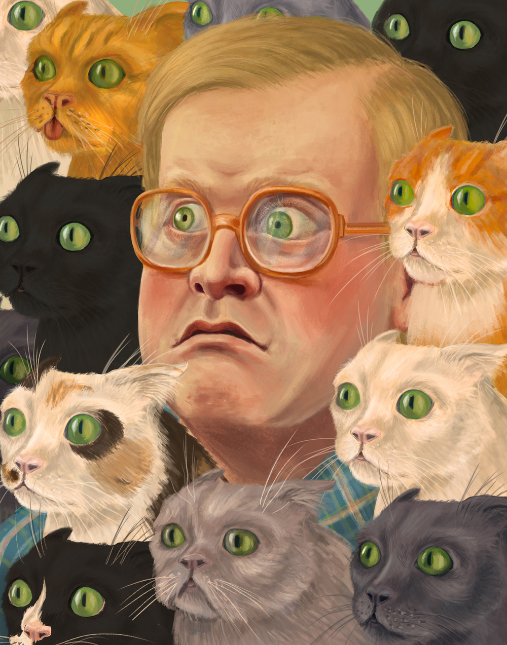 Bubbles - A portrait of Bubbles from the show Trailer Park Boys.