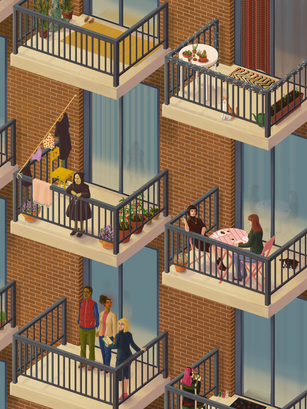 Apartment Living - A study of apartment buildings and the people who inhabit them.