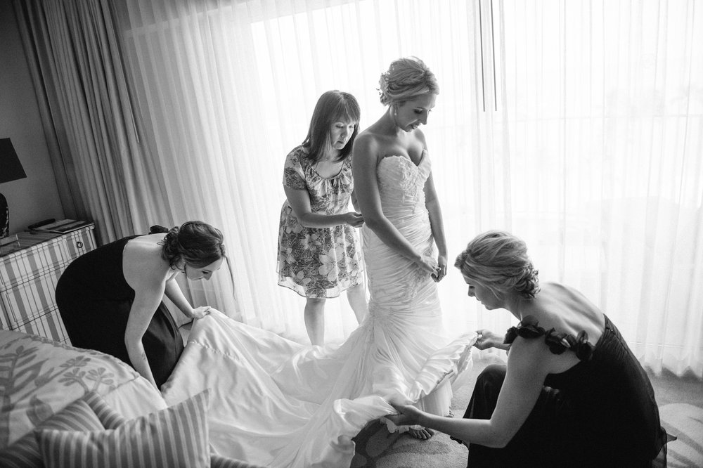 Cecilia dressing our beautiful bride Ashlee!