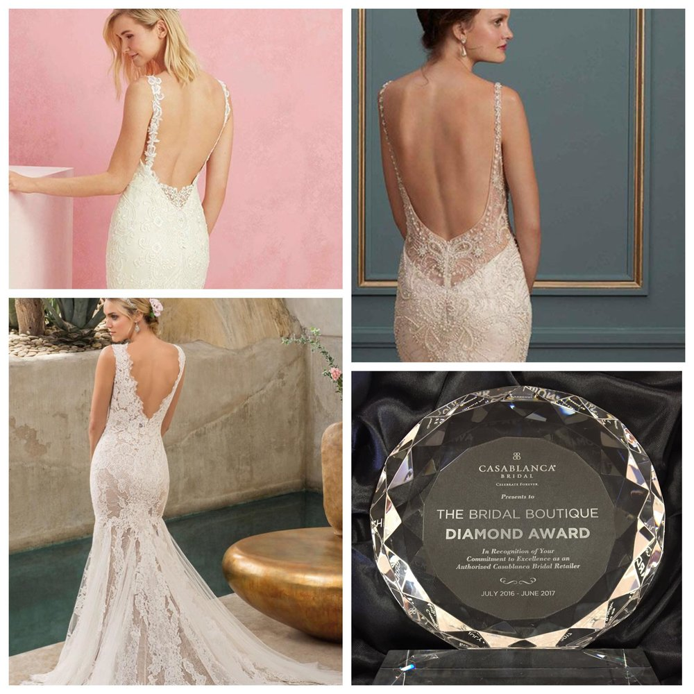 The Bridal Boutique Honolulu is proud to announce that it has received the DIAMOND AWARD from  Casablanca Bridal !